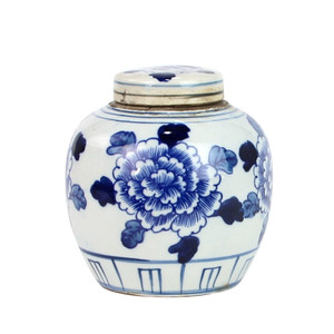 Blue And White Mini Jar The Peony
