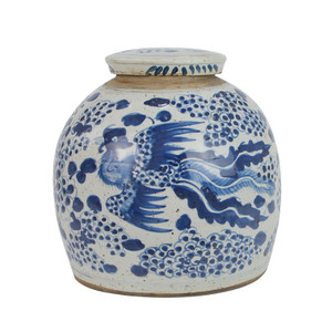 Vintage Ming Jar Phoenix Motif - 2 Sizes