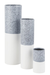 Vase Carter Gray And White - 3 Sizes