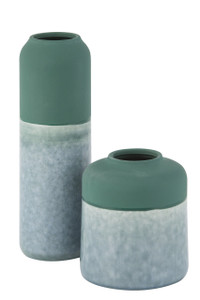 Vase Campbell Green - 2 Sizes