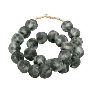 Vintage Sea Glass Beads Large - Frosty Charcoal
