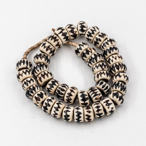 Brown Chevron Kenya Cow Bone Beads Per String