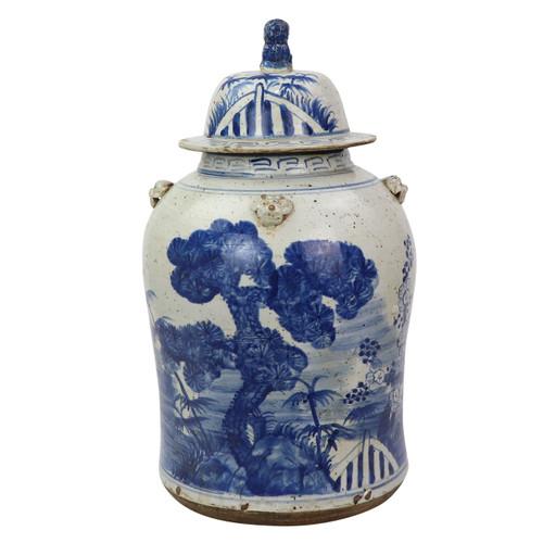 Vintage Temple Jar Pine Motif - 2 Sizes