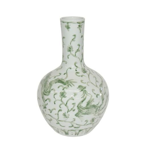 Celadon Dragon Lotus Globular Vase