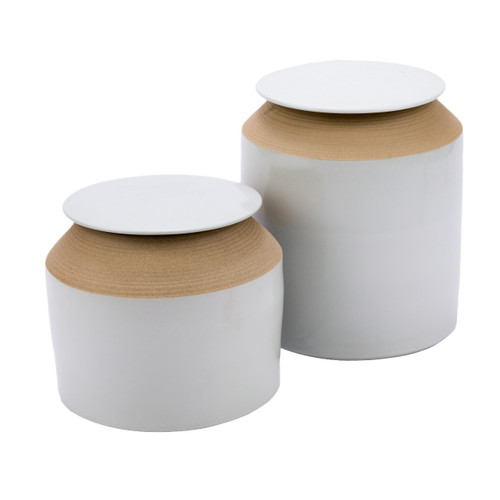 Matt White Lidded Jar - 2 Sizes