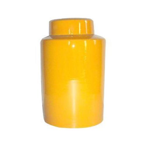 Round Tea Jar 13H - Yellow