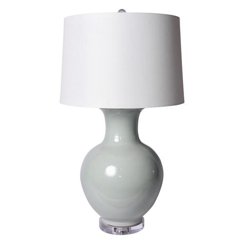 Lion Mouth Porcelain Jar Mint Green Lamp