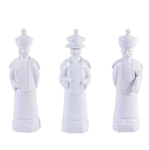 White Qing Emperors of 3 Generations  - 3 Sizes