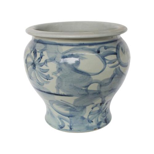 Blue And White Porcelain Silla Flower Pot