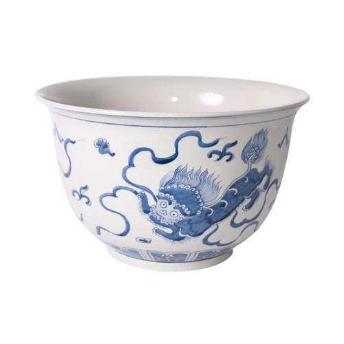 Blue And White Foo Dog Bowl