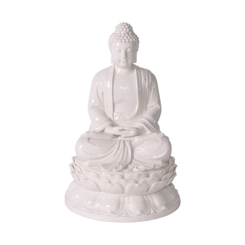 White Porcelain Mediating Buddha Statue