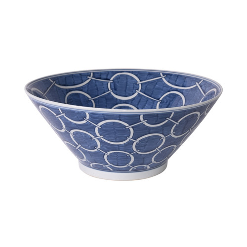 Indigo Blue Circle Bowl