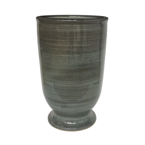 Provence Vase With Stripped Gray Glaze