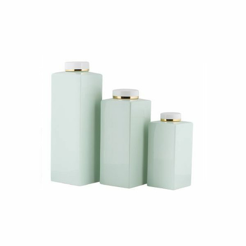 Pot w/Lid Haley Mint Green Gold - 3 Sizes