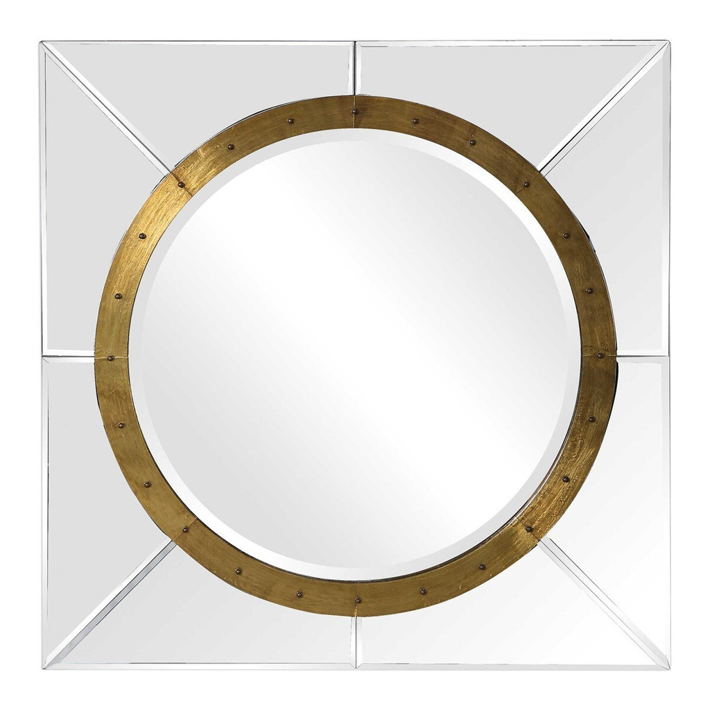 """large square wall mirror uttermost gold ring 36"""" square decorative wall hanging mirror set uttermost maya"""