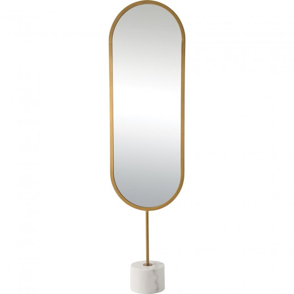 modern oval standing floor full length mirror dressing room sleek renwil taio