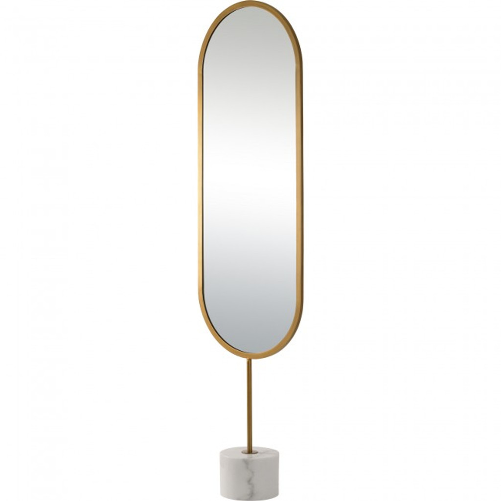 modern contemporary standing floor mirror dressing room marble white base sleek