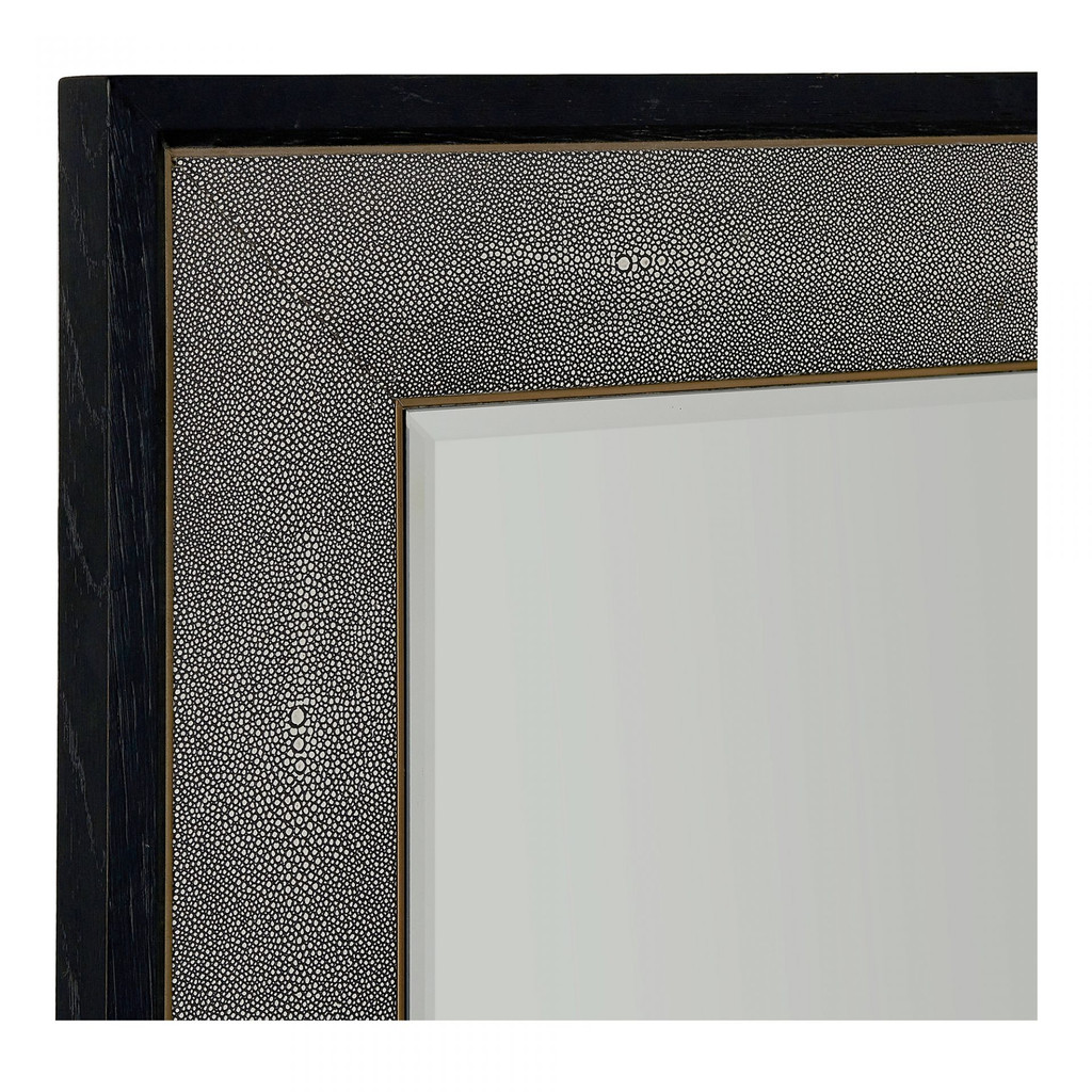 black shagreen frame modern standing floor wall leaner mirror moes home collection mako