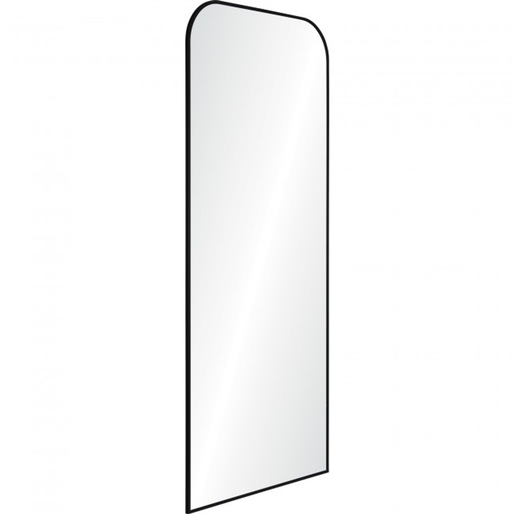 renwil mandret arch top modern black metal mirror leaner floor standing