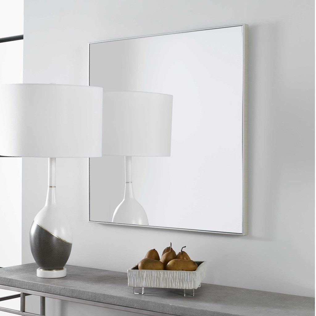 modern simple clean square 28 inch uttermost alexo wall mirror