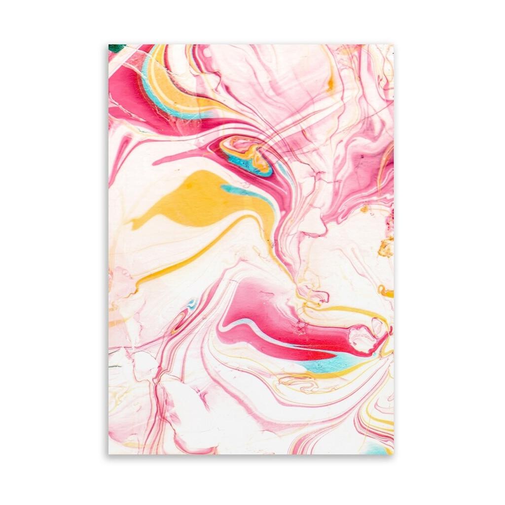 Abstract Pink Swirls on Acrylic Wall Art (kavka design SUSURRI Art