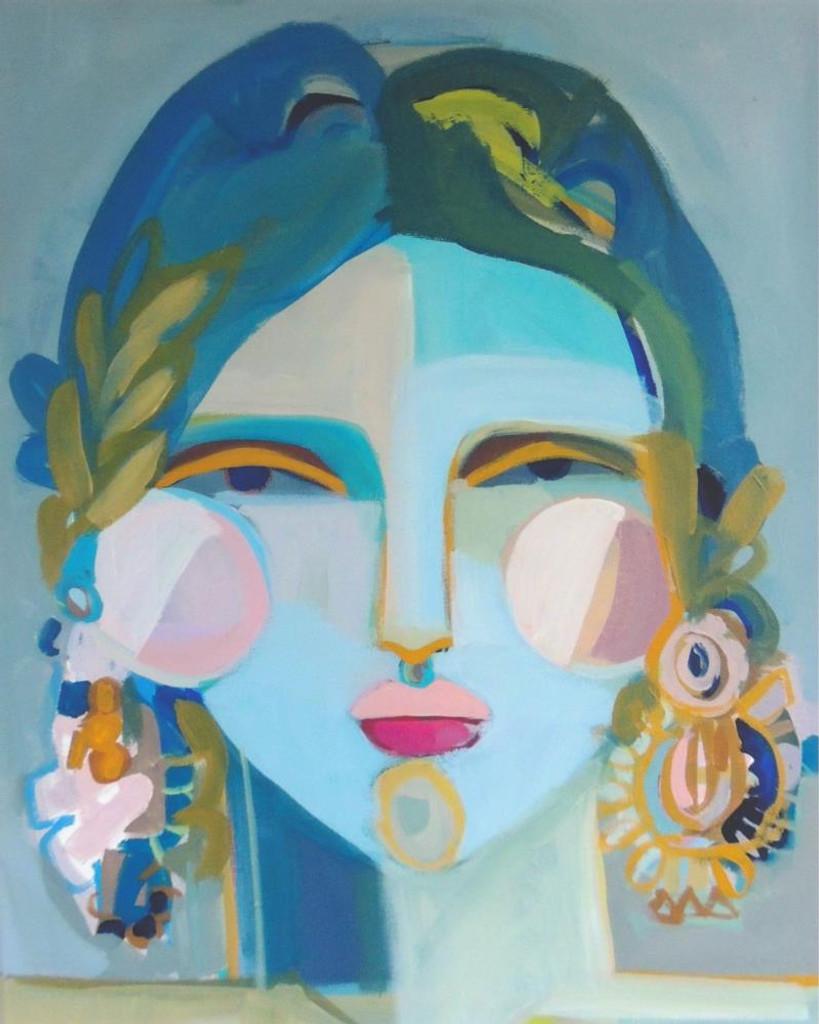 Modern Blue Woman in Blue Acrylic Frame