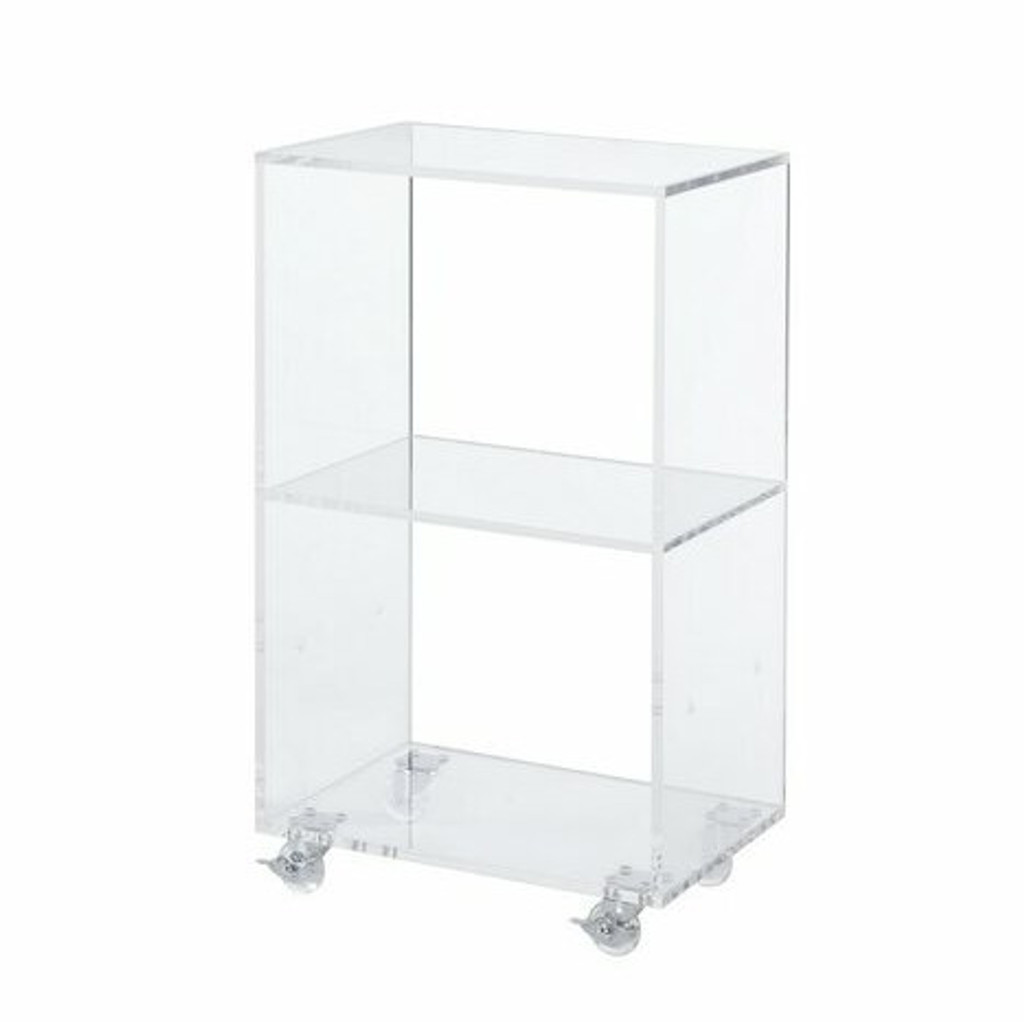 Clear Lucite Connecting Rolling Cube Storage,  Size Options