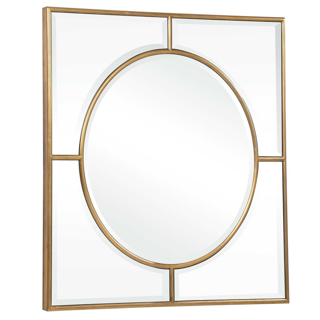 uttermost Stanford square mirror gold large decorative wall 48 inch