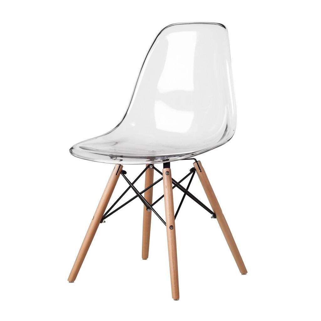 cheap Eiffel chair ikea kids size clear plastic acrylic wood legs replica mid century modern
