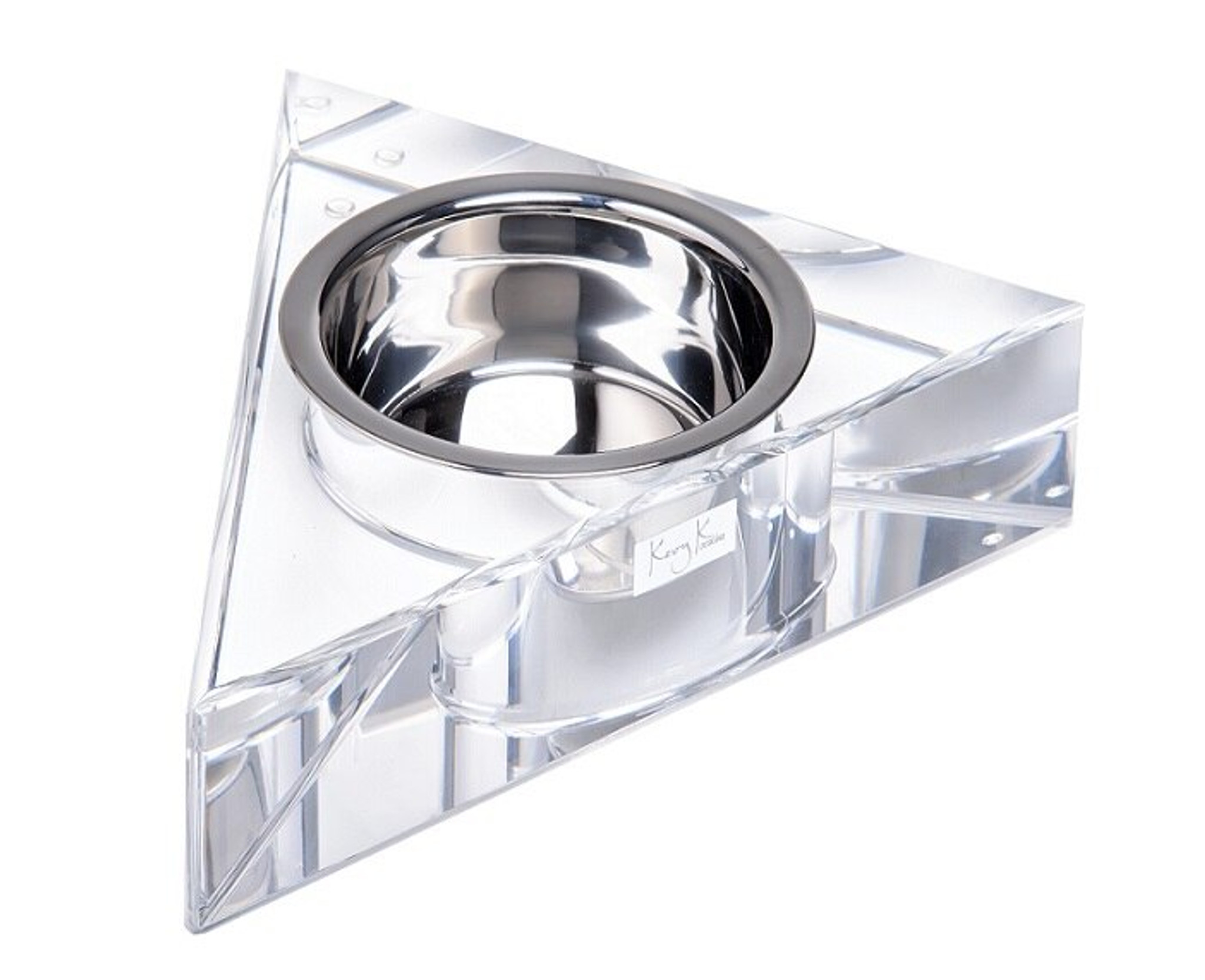acrylic dog bowl stand clear lucite transparent base raised modern chic sophisticated pet bowl feeder cheap