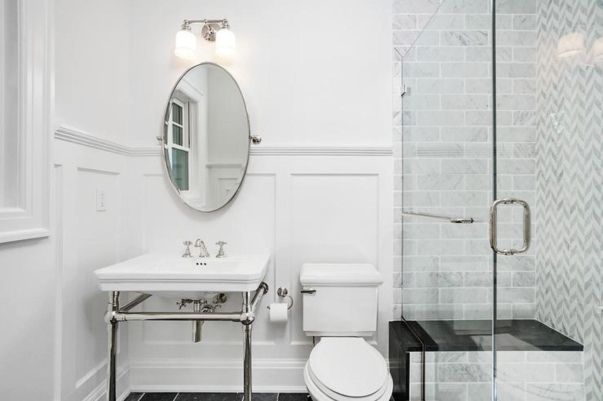 renwil azalea oval silver nickel pivot swivel bathroom vanity mirror