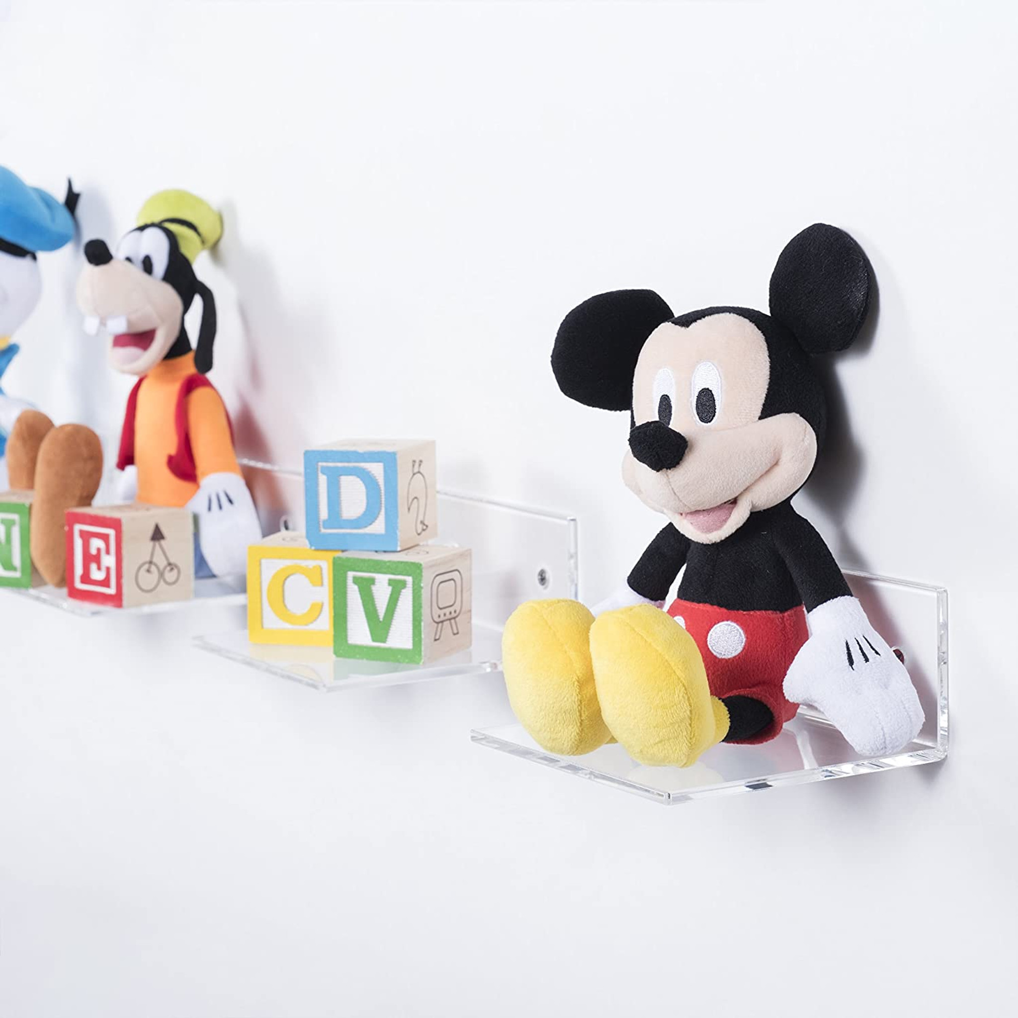 Floating Acrylic Wall Shelf/Brackets,  Set of 6