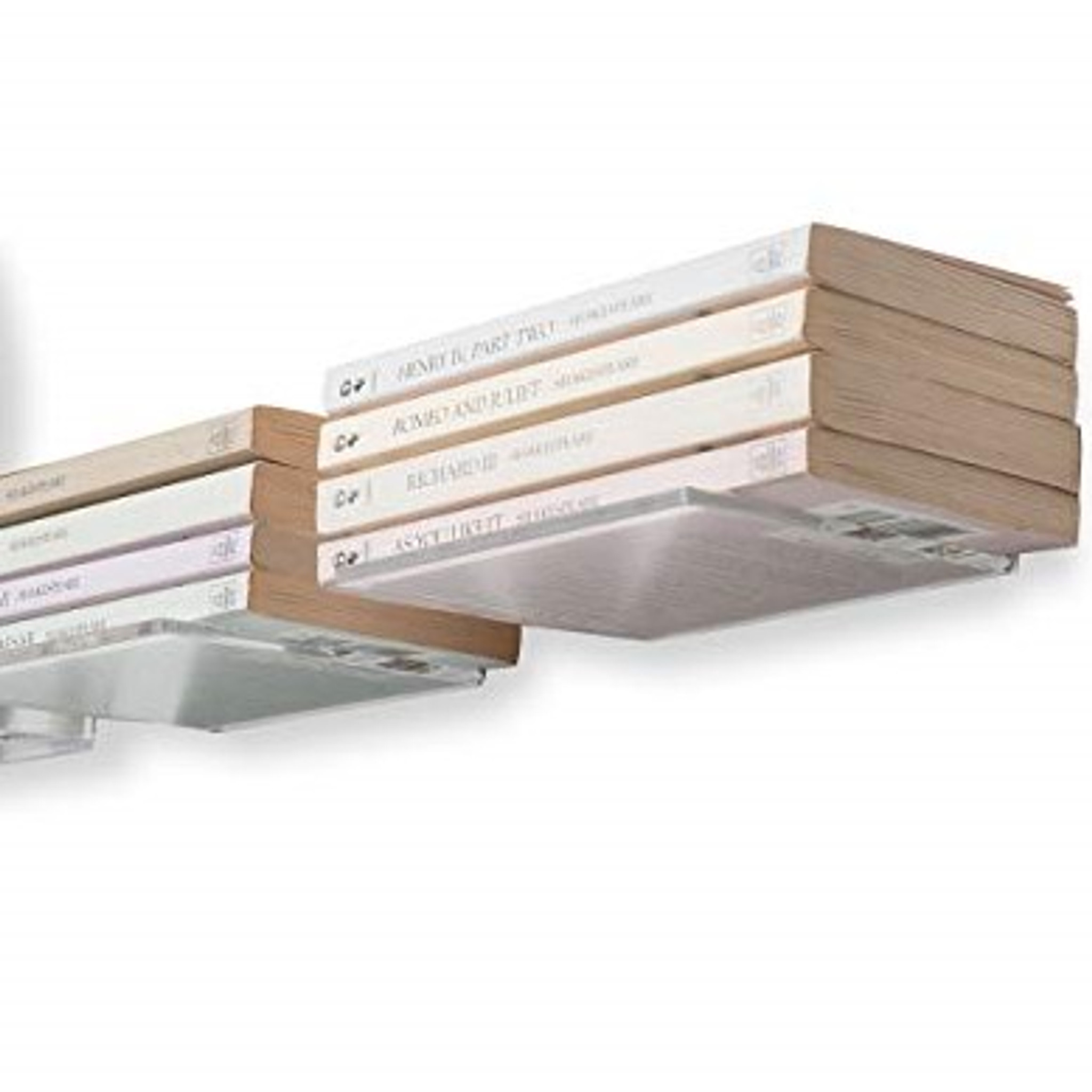 brightmaison Acrylic 5 Inch Set of 15 Clear Bedroom Kid`s Room Floating Shelves