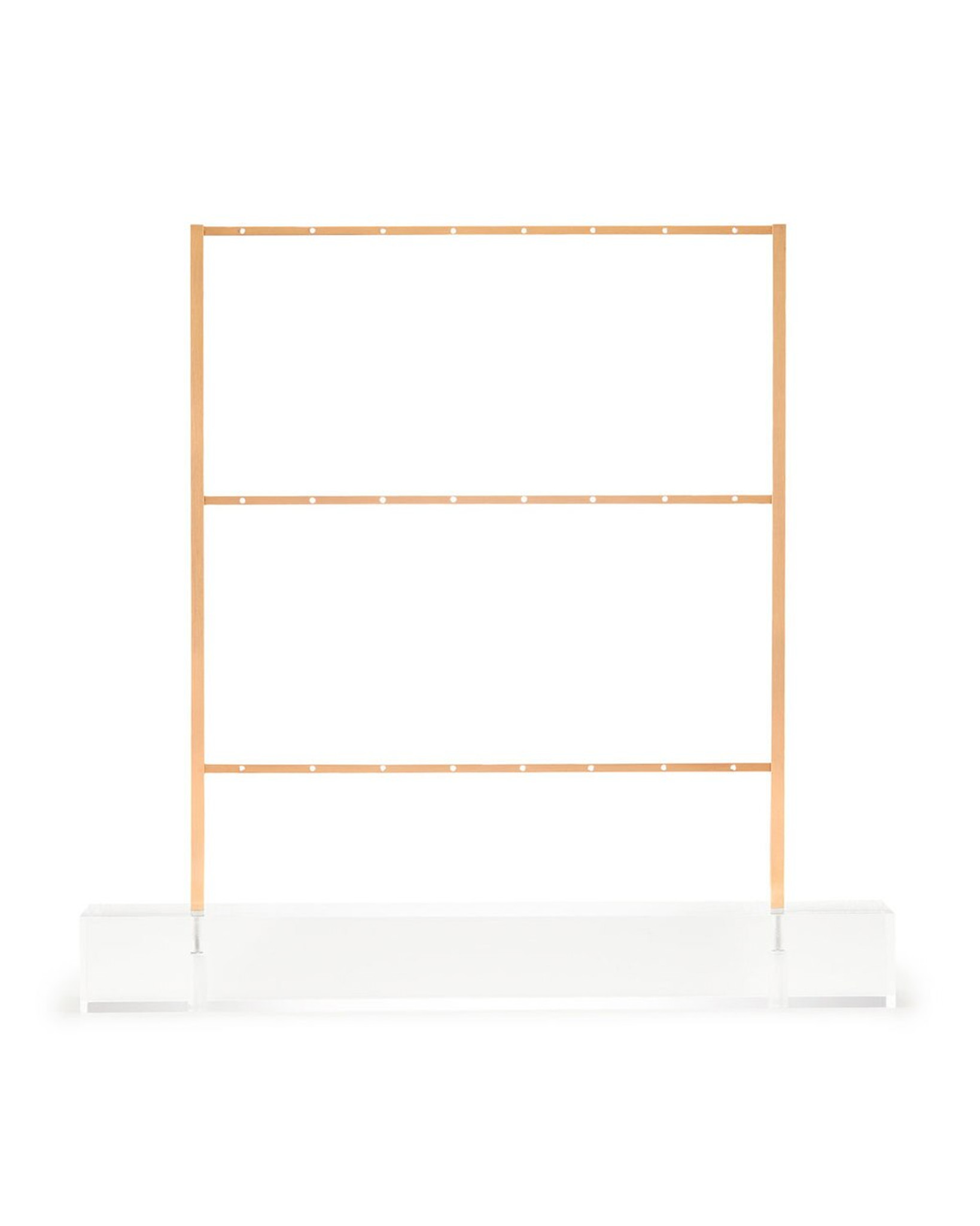earring ladder jewelry stand gold metal brass with clear lucite acrylic base kendra scott