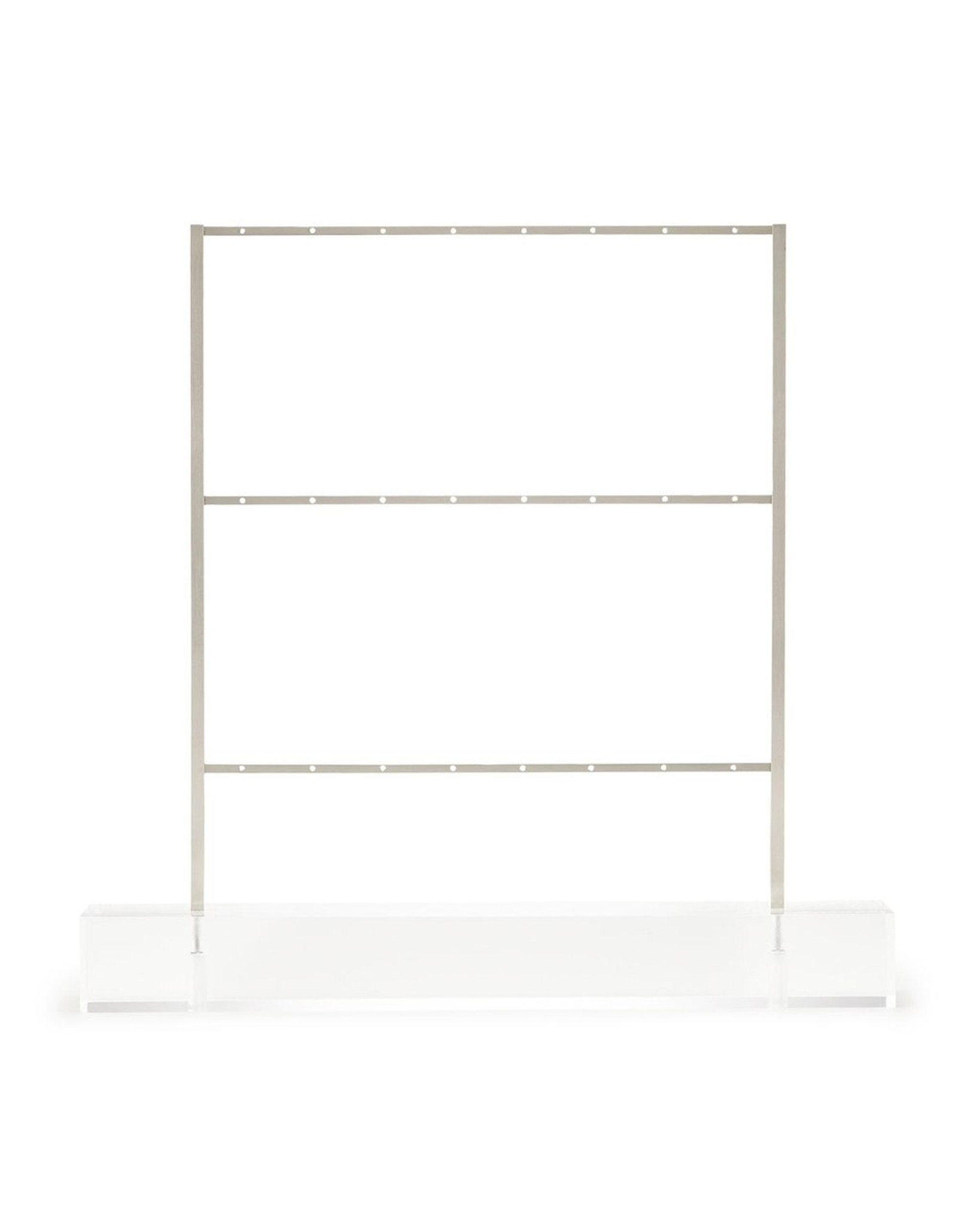 earring holder with silver chrome metal and clear lucite acrylic base modern kendra scott ladder jewelry tree organizer