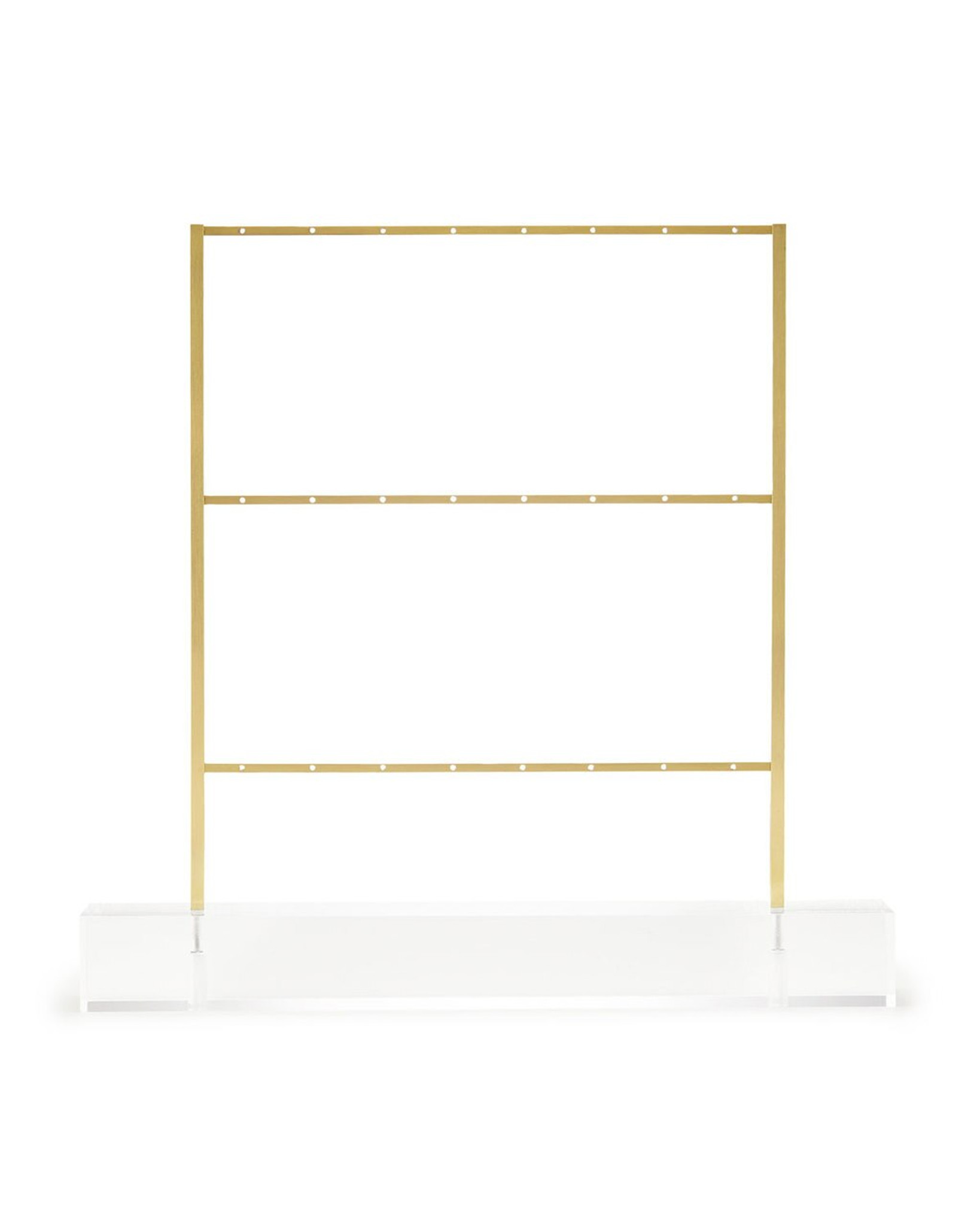 kendra scott hanging earring holder jewelry ladder with clear lucite acrylic base gold brass metal