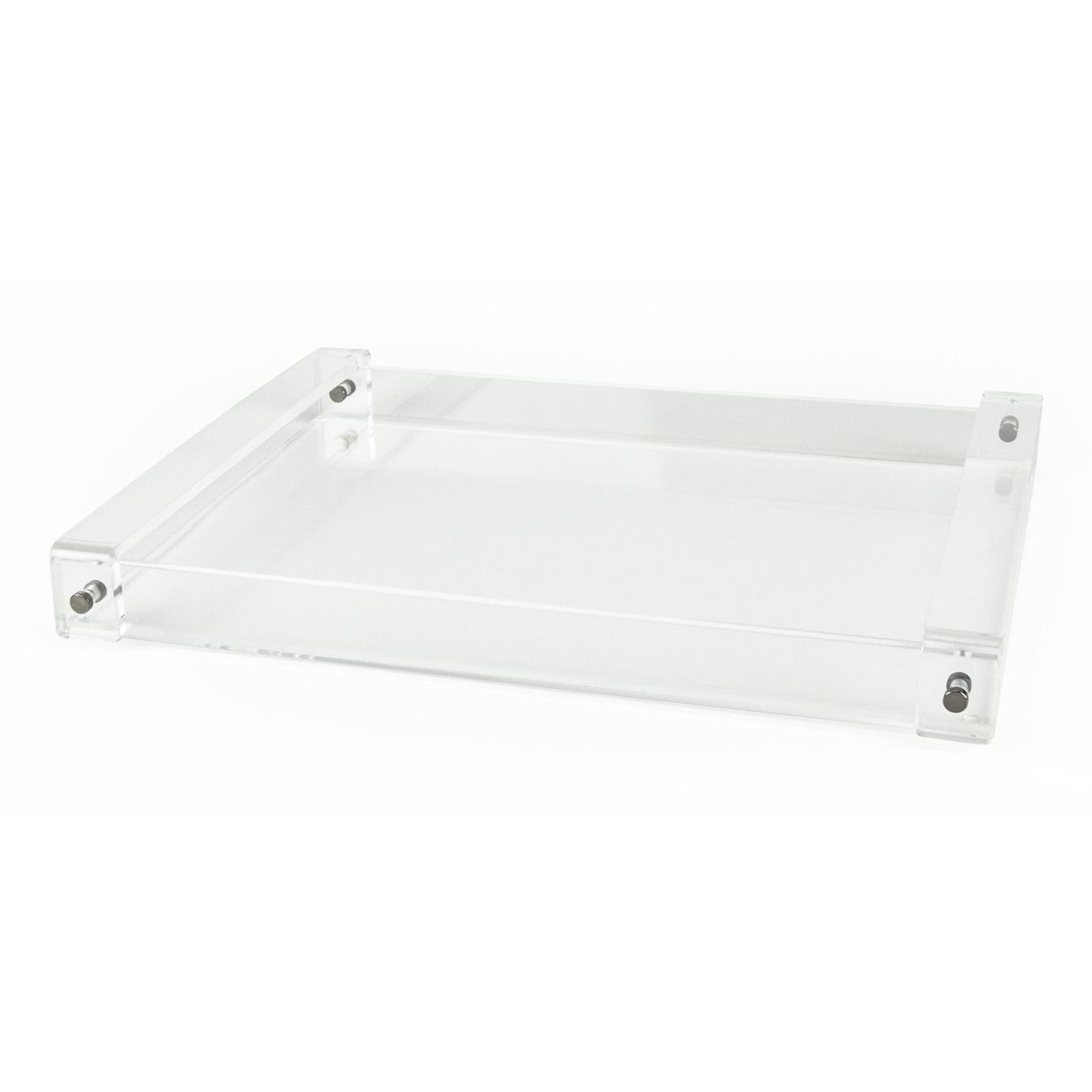 tizo acrylic serving tray with handles large decorative ottoman tray modern