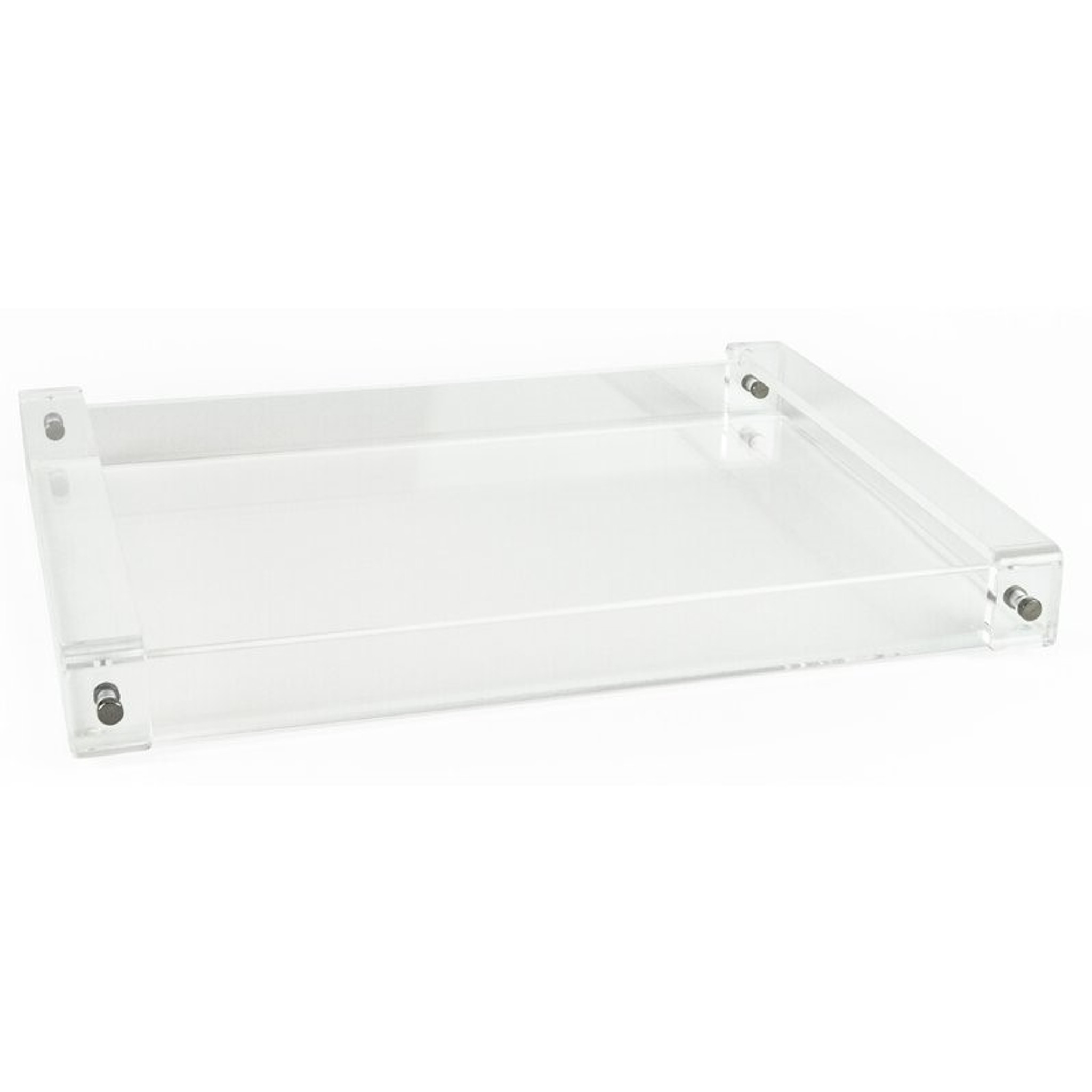 extra large acrylic serving tray with handles clear lucite