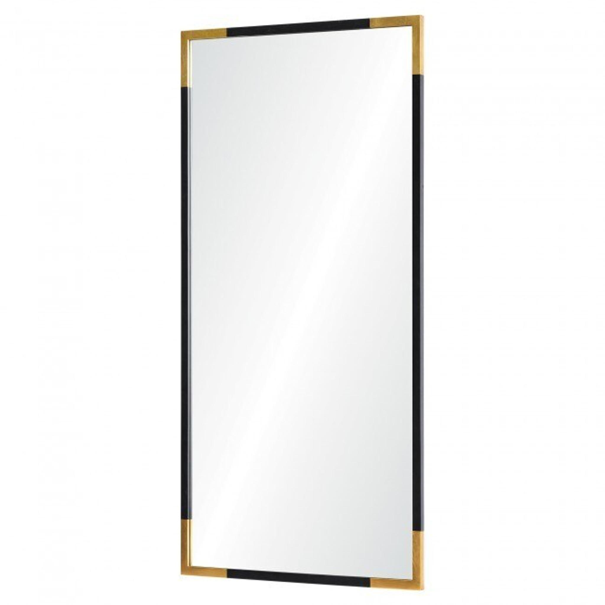 renwil Osmond black and gold cheap modern tall powder room bathroom wall decorative mirror cb2 west elm