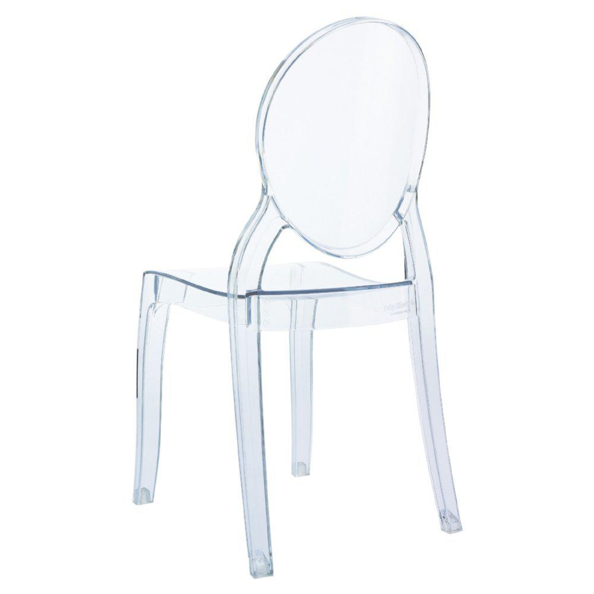 Baby Elizabeth Kids Chair Transparent colors play set table clear acrylic plastic chair stackable ghost