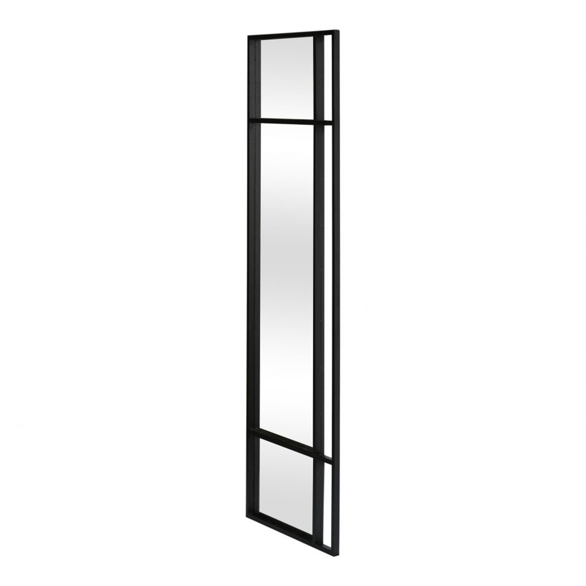 Moe's Home Collection Grid Black Rectangular Wall Mirror modern standing
