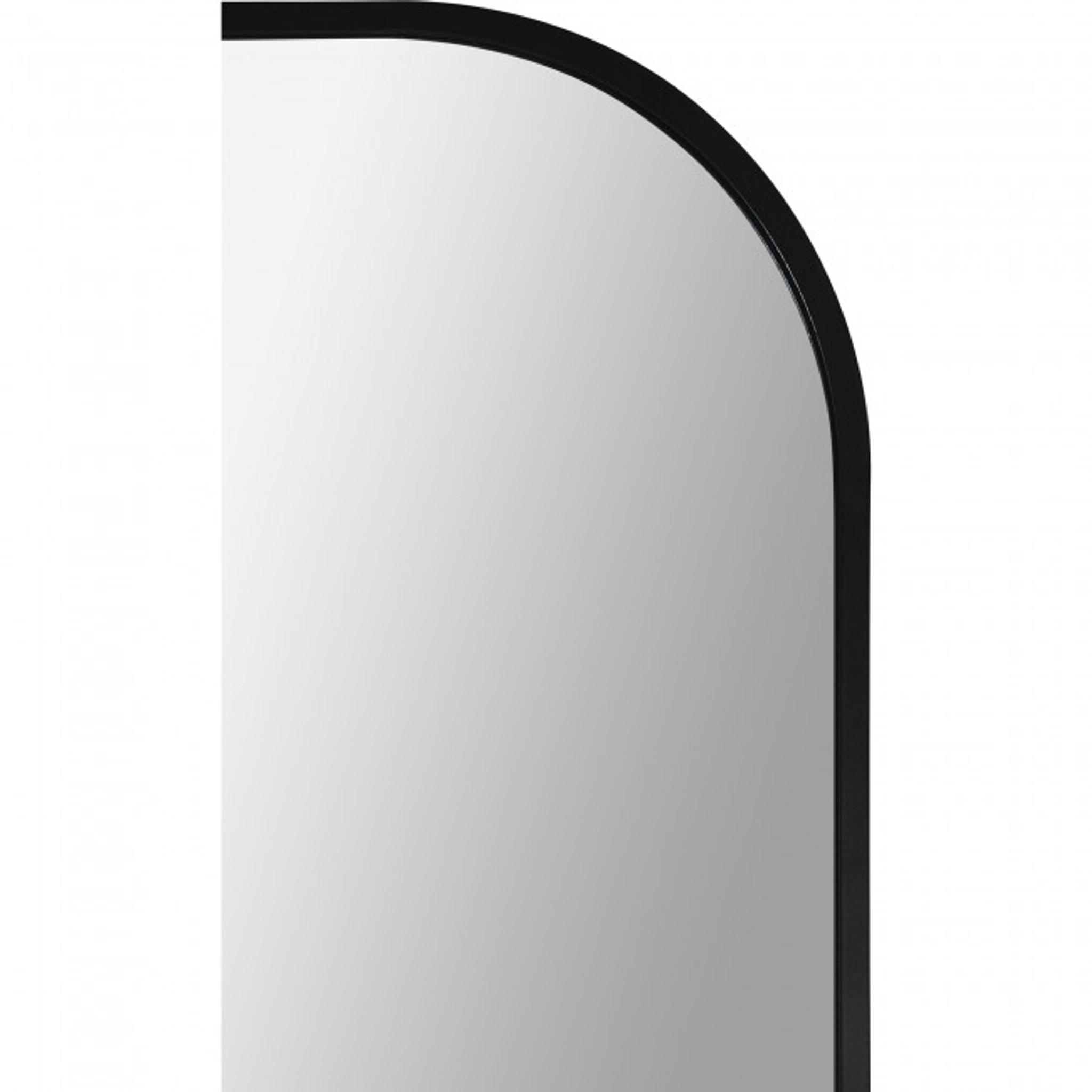 renwil mandret arch top modern round top black matte metal contemporary leaner floor mirror