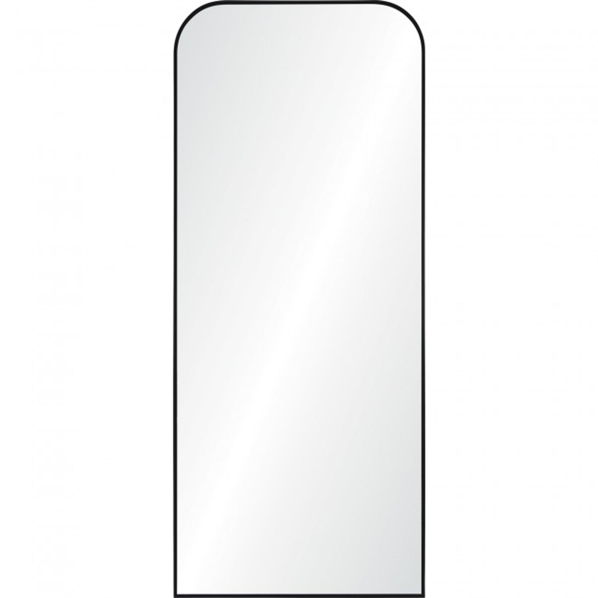 renwil mandret arch top modern rounded black metal leaner wall floor mirror