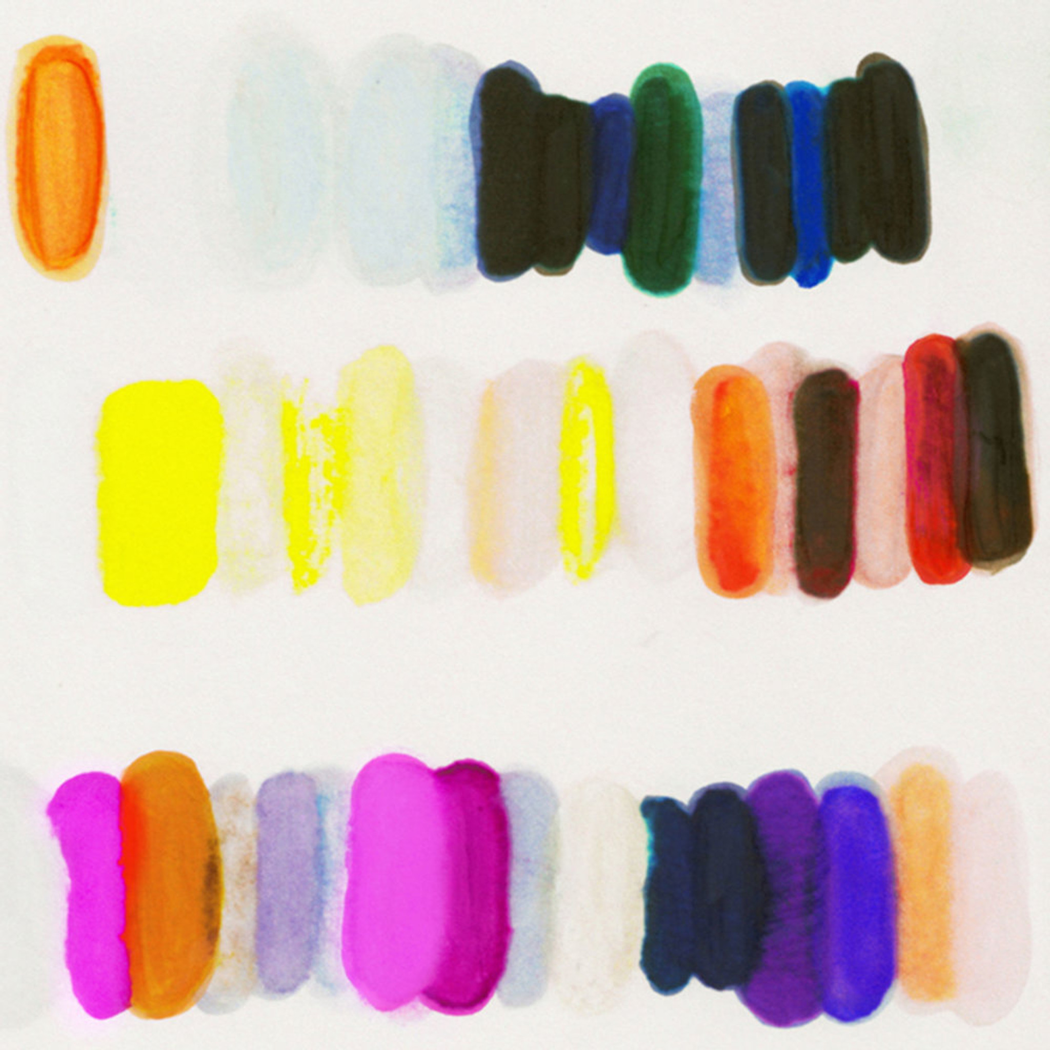 kristi kohut heavenly palette colorful modern abstract fine art print lucite shadow box frame