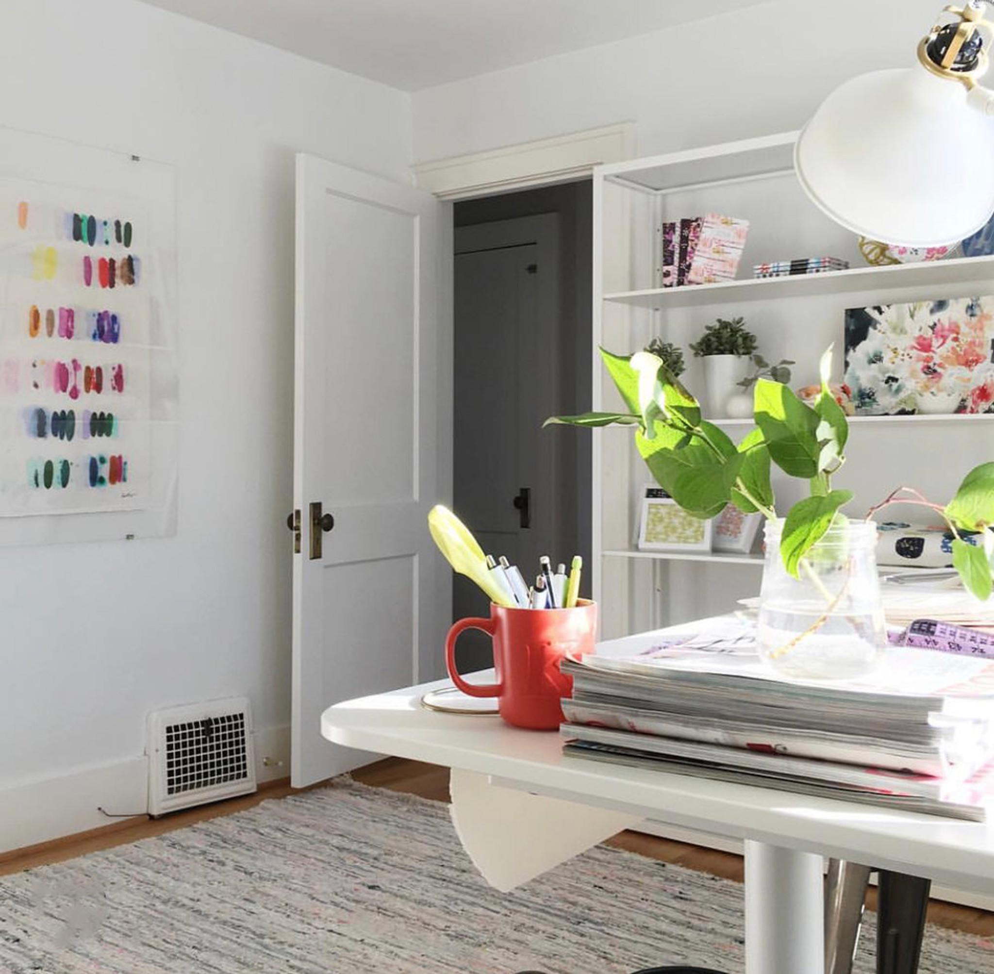 kristi kohut heavenly palette bright color modern abstract fine art print lucite shadow box frame