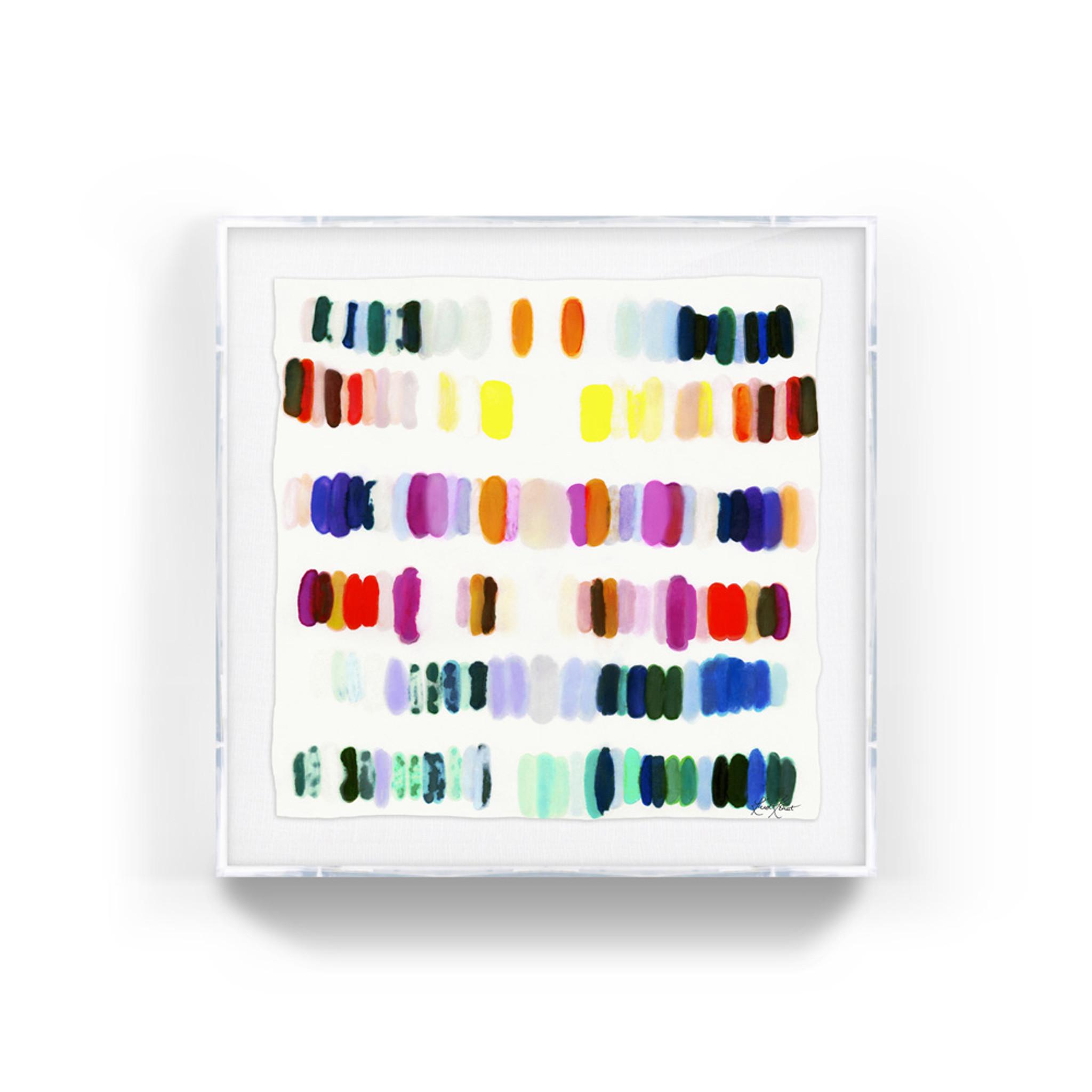 kristi kohut heavenly palette modern abstract fine art print lucite shadow box frame
