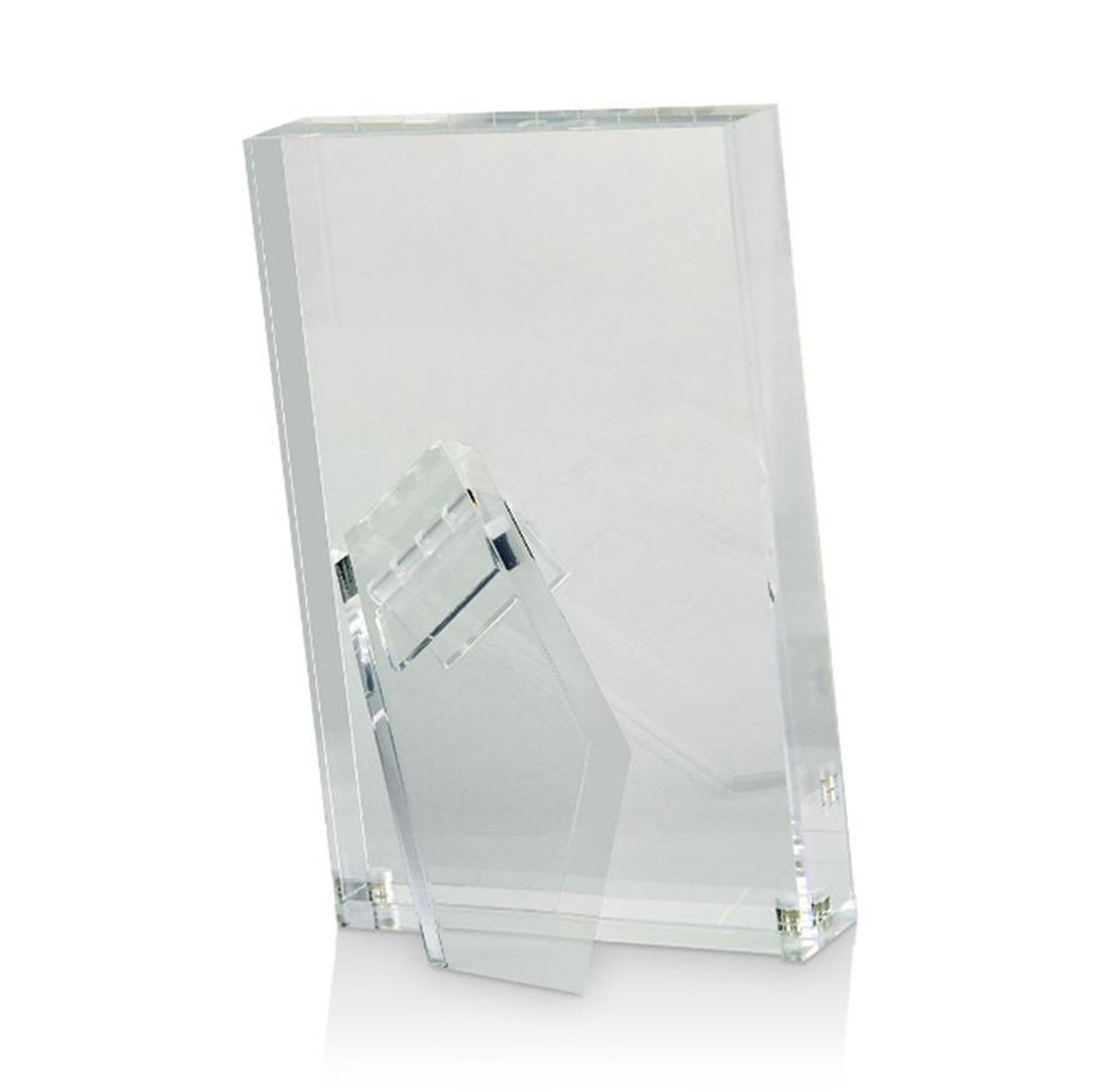 tizo designs clear lucite thick acrylic tabletop modern photo picture frame