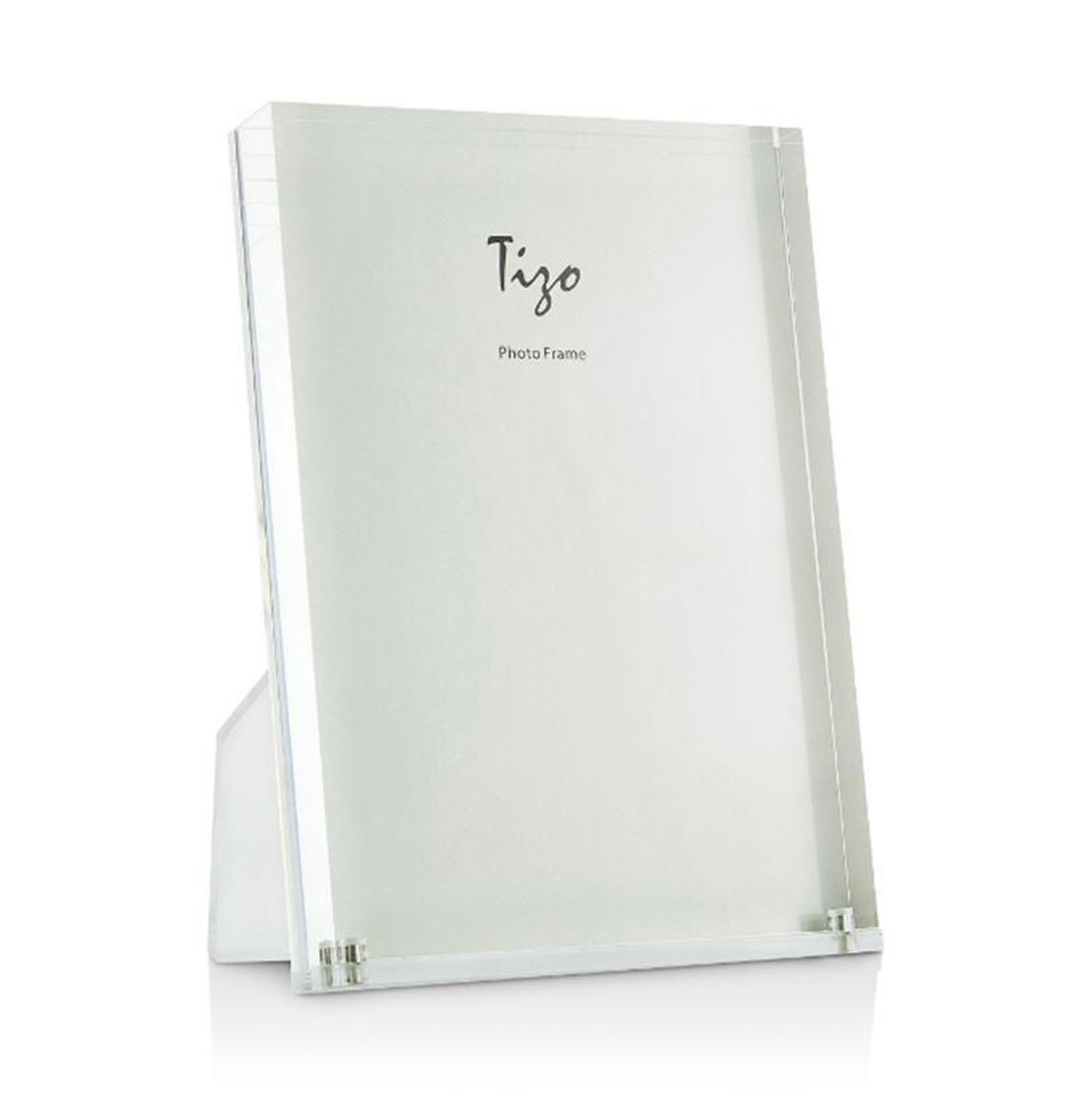 clear acrylic lucite thick modern desk top picture frame tizo