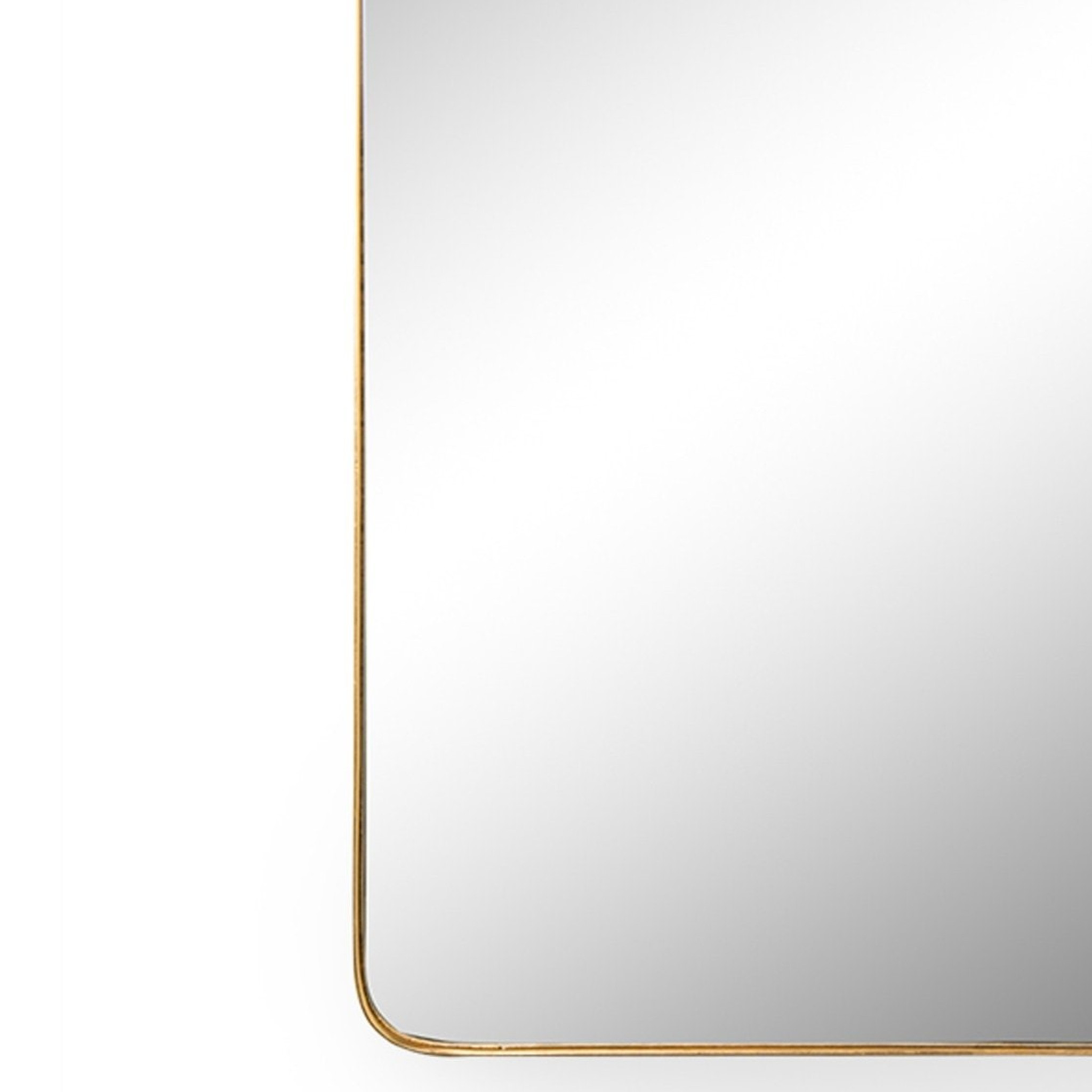 gold Frida bracket clamp top modern rounded corners wall mirror cooper classics racetrack