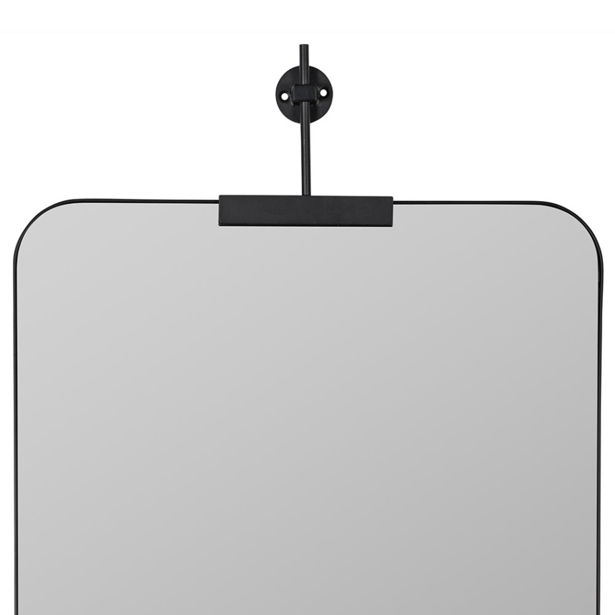 41931 cooper classics black modern rounded corners bracket clamp wall mirror
